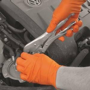 Powder Free Orange Micro Textured Small Gloves