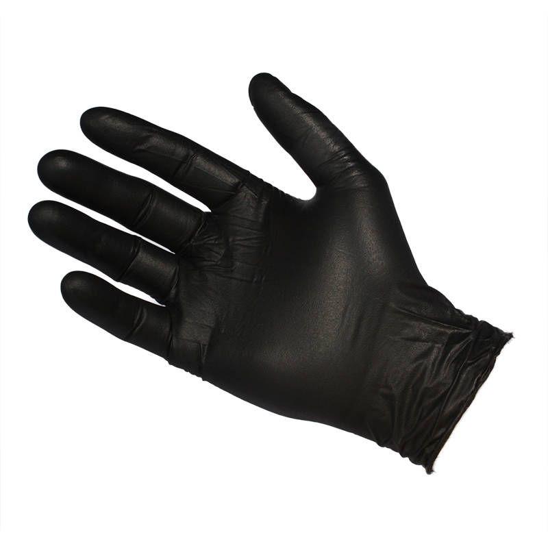 Powder Free Black Micro Textured Small Gloves