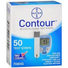 Buy Online Contour Plus Strips, 50 count