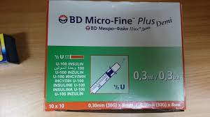 0.3mm BD Micro-Fine plus Insulin Syringes