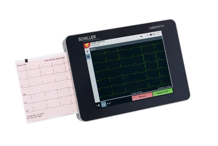 Digital electrocardiograph / 12-channel / with touchscreen  CARDIOVIT FT-1 SCHILLER