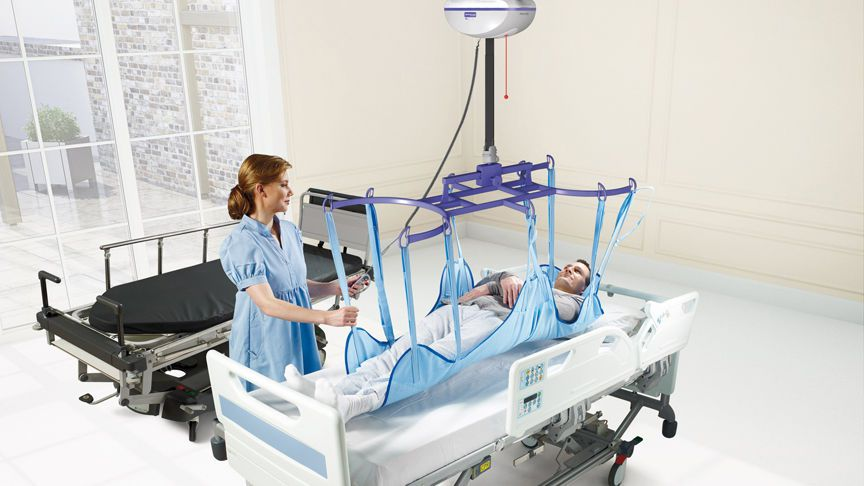 Ceiling-mounted patient lift Maxi Sky™ 2 ArjoHuntleigh