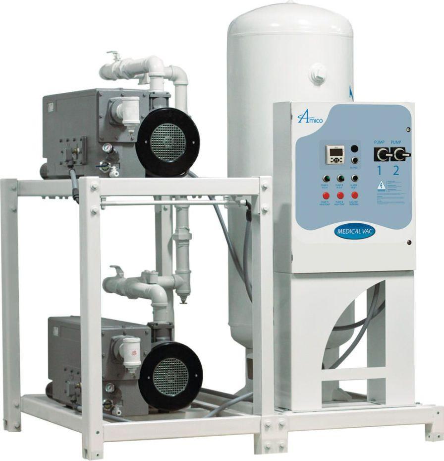 Medical vacuum system / rotary vane / lubricated CSA Duplex RVL Modular Amico Corporation