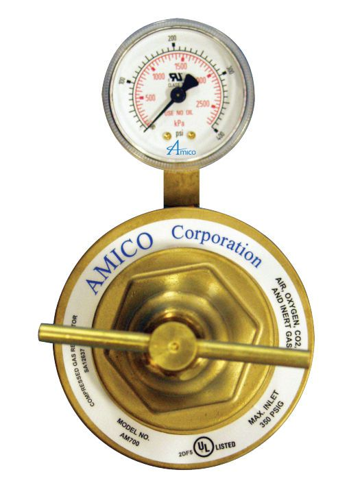 Medical gas pressure regulator M2-X-MAN-42E, M2-X-MAN-42E-G Amico Corporation