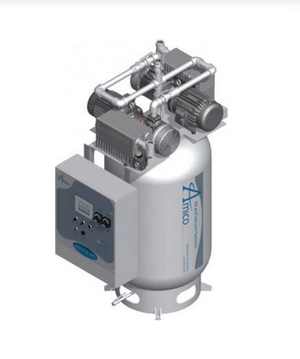 Medical vacuum system / rotary vane / lubricated NFPA Duplex RVL Vertical Amico Corporation