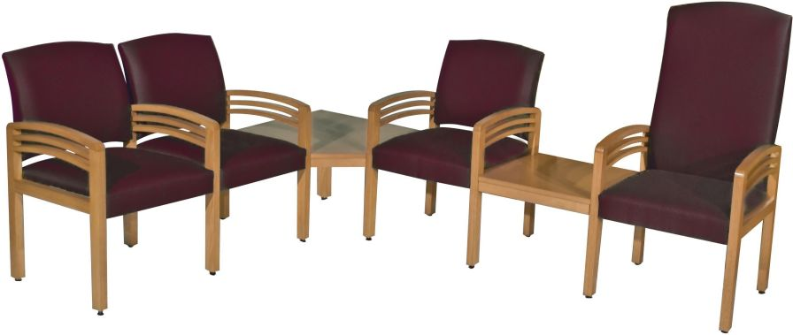 Waiting room chair / beam / with table / 4 seater Austin Amico Corporation