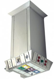 Ceiling-mounted supply column / height-adjustable C-X-ELEC-CYL Amico Corporation