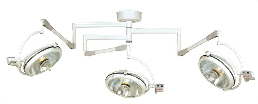 Halogen surgical light / ceiling-mounted / 3-arm STFOCUS-10T St. Francis Medical Equipment