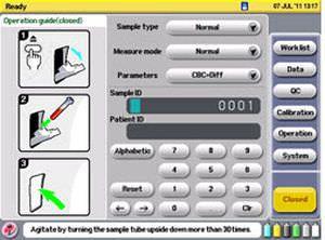 Automatic hematology analyzer / leukocyte distribution / 23-parameter Celltac Es MEK-7300 Nihon Kohden Europe
