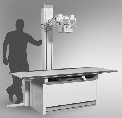 Height-adjustable radiography table / electrical / with tube-stand CS 3000 Josef Betschart