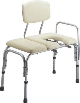 Height-adjustable shower stool / with armrests / with cutout seat APC-5090 Apex Health Care