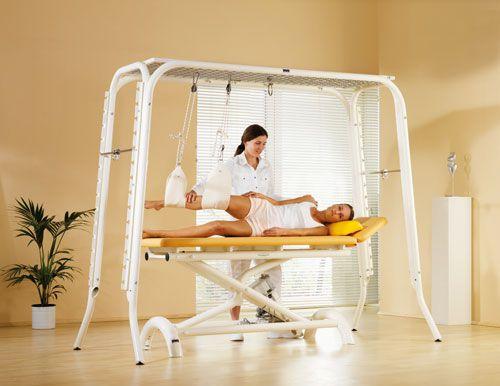 Electrical massage table / 2 sections KARLSHRUNE HWK - Medizintechnik