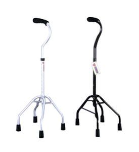 Quadripod walking stick / with offset handle / height-adjustable QC-300A & 301A Medcare Manufacturing