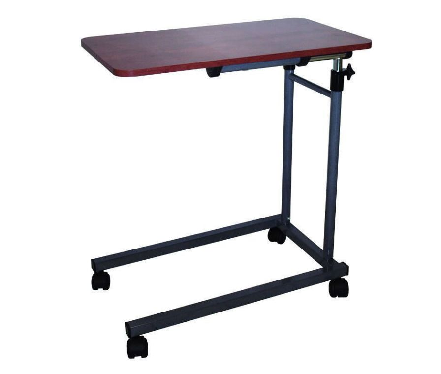 Height-adjustable overbed table / on casters / reclining AC 300 HMS-VILGO