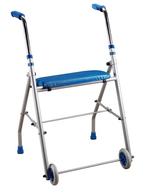 Height-adjustable walker / folding / with seat / with 2 casters TA 3902 HMS-VILGO