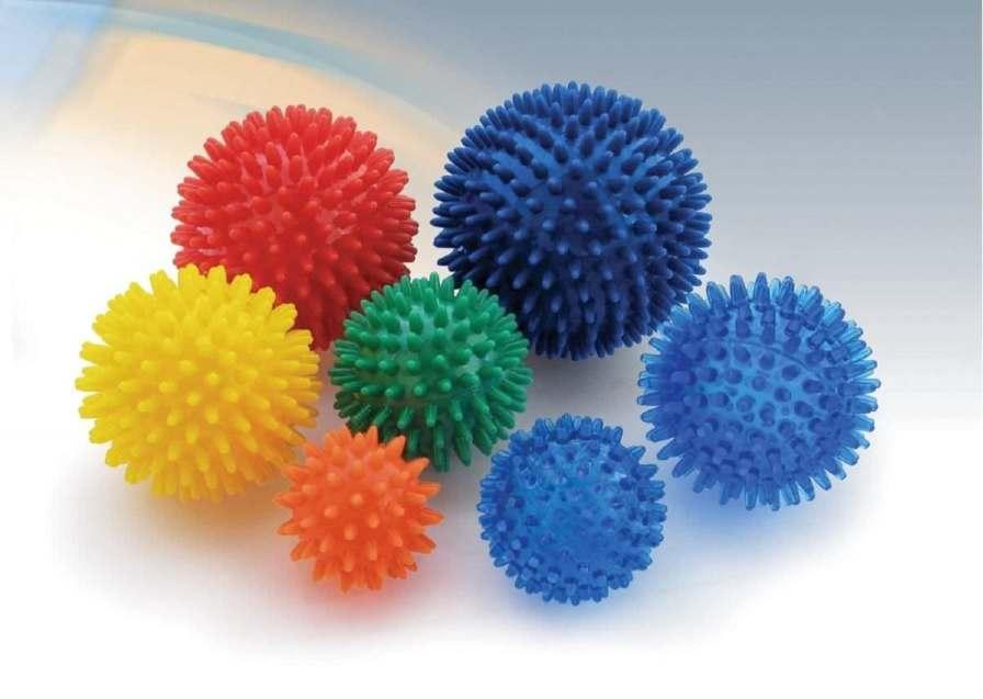 Small Pilates ball / with pins Albert Hohlkörper