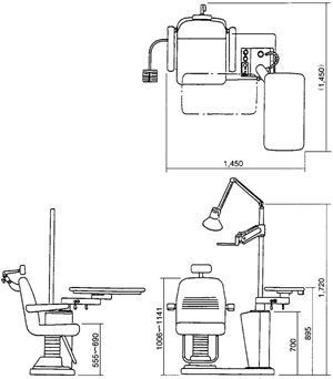 Ophthalmic workstation / with chair / 1-station UN-301 Takagi Ophthalmic Instruments Europe