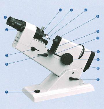 Manual lensmeter LM-10, LM10DX Takagi Ophthalmic Instruments Europe