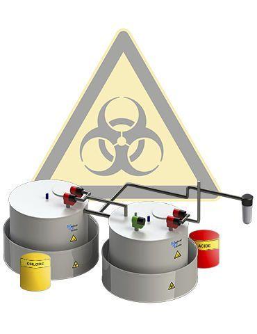 Biohazard effluents treatment plant MEDICAL PROCESS