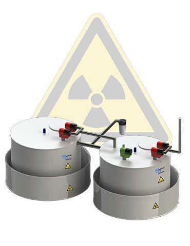 Radioactive effluents treatment plant MEDICAL PROCESS