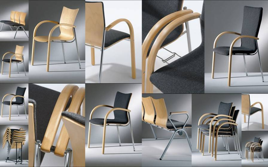 Waiting room chair / with armrests AXXA 506 Workware