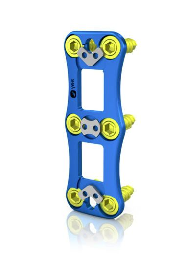 Cervical arthrodesis plate / anterior / 2 levels WeCOVER YELLOWSTEPS