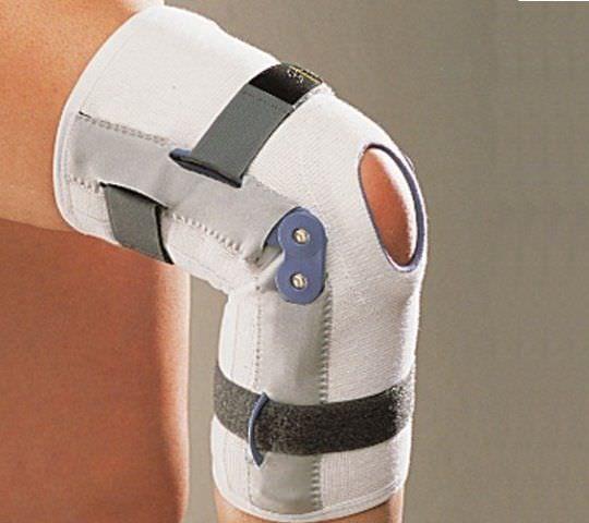 Knee orthosis (orthopedic immobilization) / knee ligaments stabilisation / open knee / with patellar buttress Ligaflex Thuasne