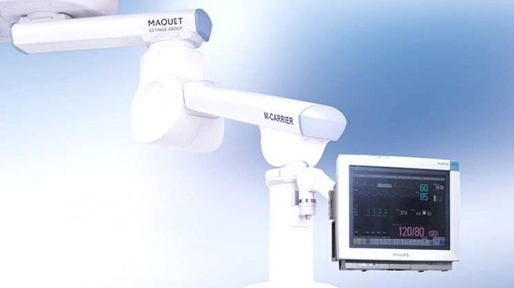 Medical monitor support arm / ceiling-mounted M-CARRIER MAQUET