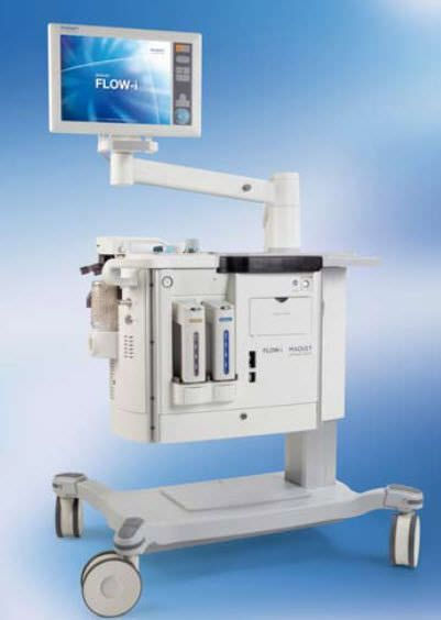 Anesthesia workstation with electronic gas mixer FLOW-i® C30 MAQUET