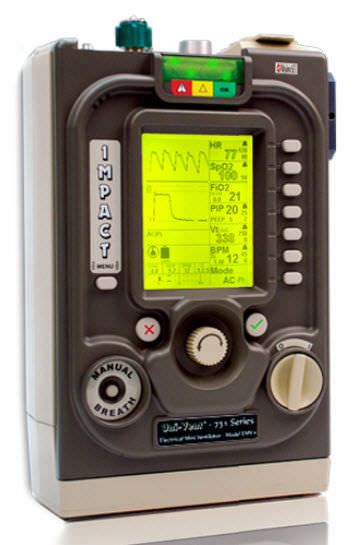 Resuscitation ventilator / CPAP EMV+® Impact Instrumentation