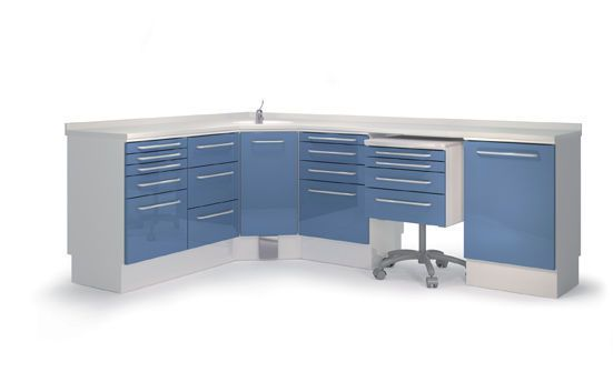 Veterinary clinic worktop / with drawer / with sink COMP2 Lory Progetti Veterinari