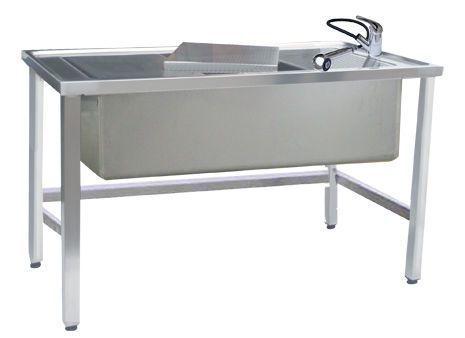 Veterinary examination table / fixed / with bath VA001 Lory Progetti Veterinari