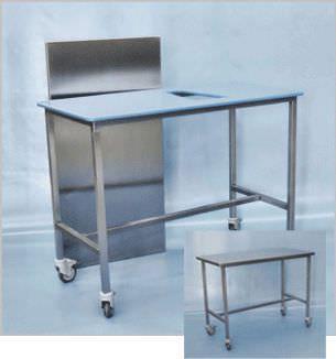 Veterinary examination table / mechanical / on casters / 1-section 100 900, 100 900-2 Hedo Medizintechnik
