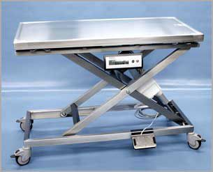 Veterinary examination table / electrical / mechanical / on casters 260 600, 260 605 Hedo Medizintechnik