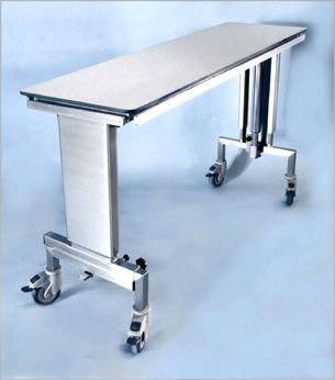 Veterinary operating table / mechanical / on casters / X-ray transparent 101 000 Hedo Medizintechnik
