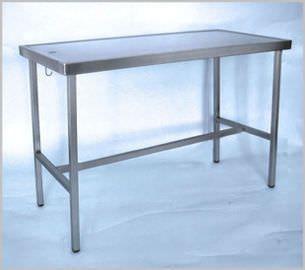 Veterinary examination table / fixed / 1-section 400 100, 400 100-2 Hedo Medizintechnik