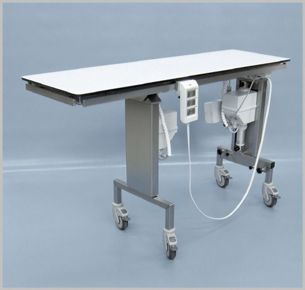 Veterinary operating table / electrical / X-ray transparent / tilting 103 400 Hedo Medizintechnik
