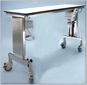Veterinary operating table / electrical / mechanical / height-adjustable 102 000 Hedo Medizintechnik