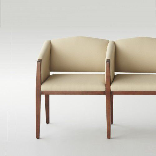 Beam seat / for waiting room / with backrest / with armrests Paramount Campbell Contract