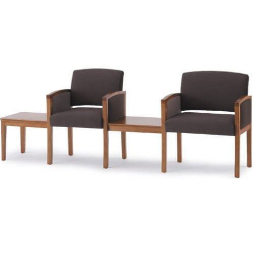 Beam seat / for waiting room / with backrest / with armrests Fairmont Tandem 504 Campbell Contract