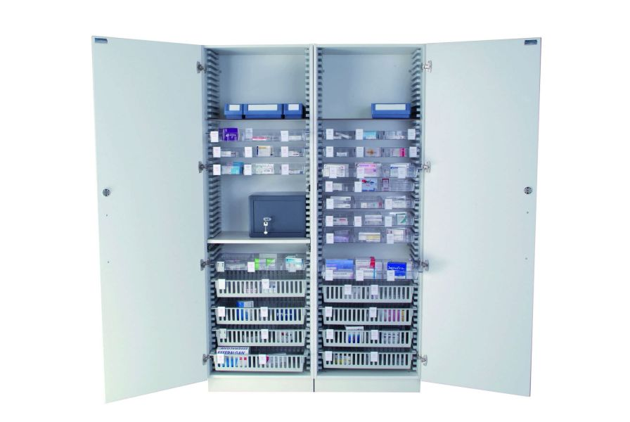 Medical cabinet / medicine / 2-door Sclessin Productions