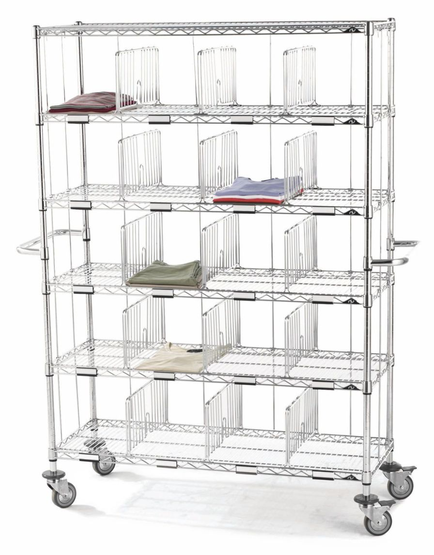 Mobile shelving unit / 5-shelf HYGIRACK Sclessin Productions