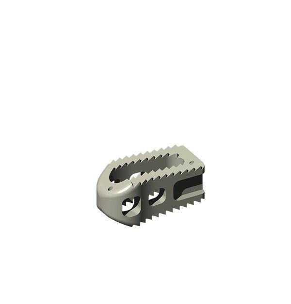 Lumbar interbody fusion cage / posterior ALEUTIAN® PLIF K2M