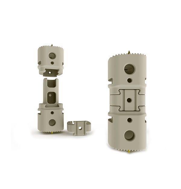 Lumbar interbody fusion cage / thoracic / thoraco-lumbar / corpectomy SANTORINI® Large K2M