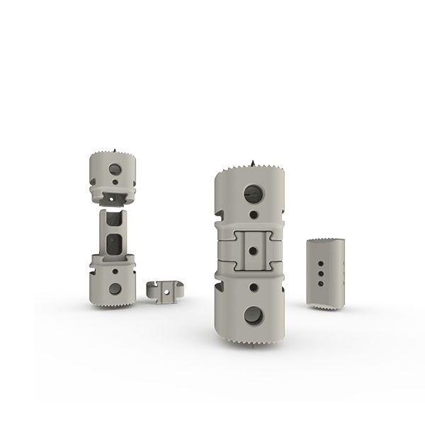 Thoraco-lumbar interbody fusion cage / lumbar / thoracic / corpectomy SANTORINI® Medium K2M