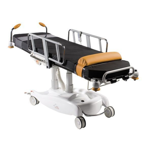 Electrical treatment armchair / on casters / height-adjustable 2400 Ambu Packot-line Acime Frame