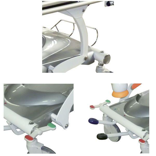 Transport stretcher trolley / height-adjustable / hydraulic / 2-section Skiff Ambu Acime Frame