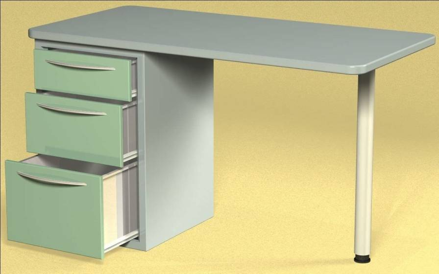 Healthcare facility worktop / with drawer W76 Farum