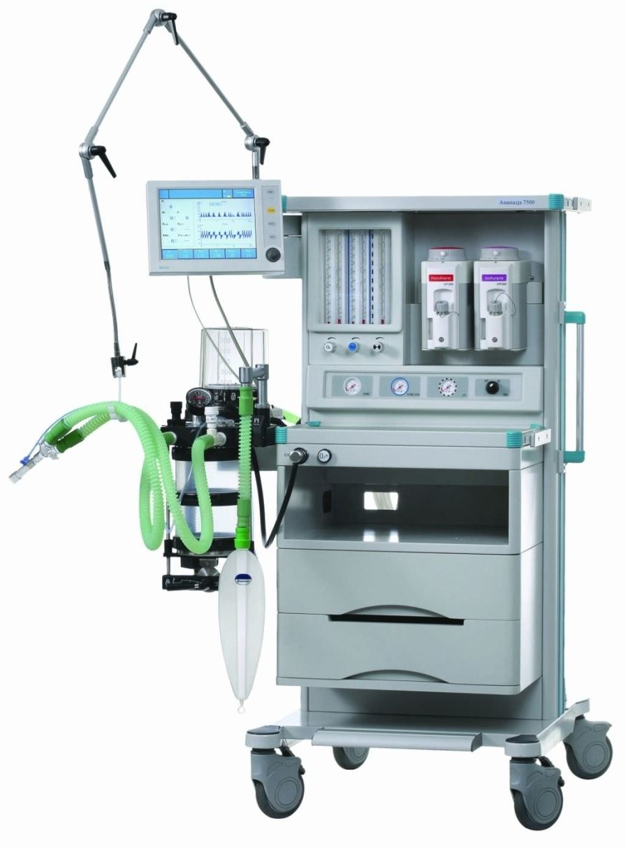 Anesthesia workstation with gas blender / 6-tube ANASTAZJA 7500 Farum
