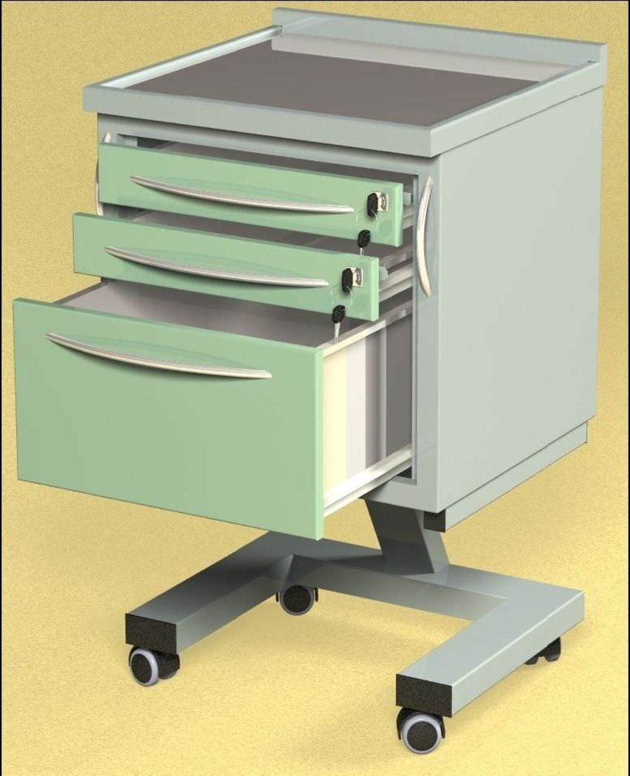 Healthcare facility worktop / on casters / with drawer W60 Farum